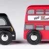 T-0111 Double Decker Bus & Black Cab  001