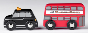 T-0111 Double Decker Bus & Black Cab  001
