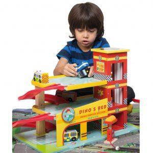 Dinos Red Garage by Le Toy Van