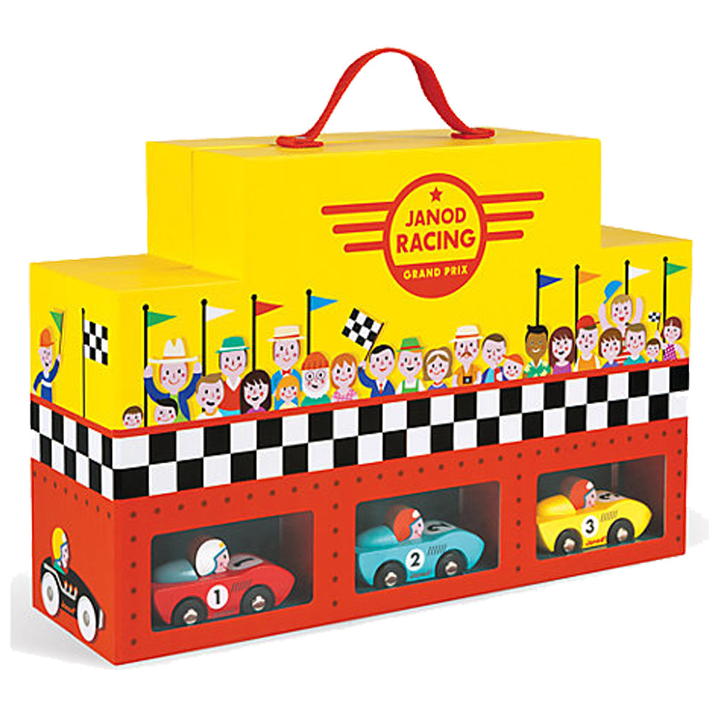 J08554  Janod Grand Prix Play Set in a Suitcase 001