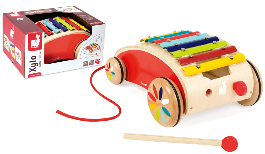 J05380 Janod Xylophone Pull Along Roller 003