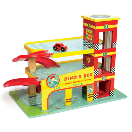 TV450 Dinos Red Garage by Le Toy Van 004