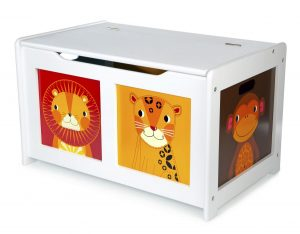 Tidlo wooden White Jungle Toy box 001