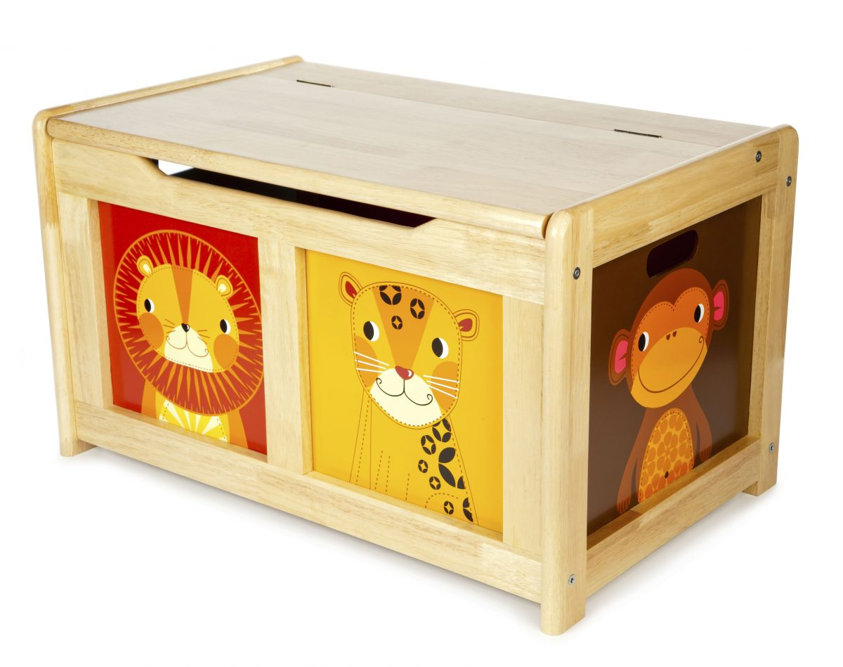 T-0227 Tidlo Wooden Jungle Toy Chest 001