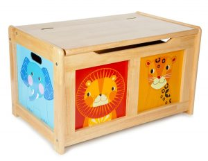 T-0227 Tidlo Wooden Jungle Toy Chest 002
