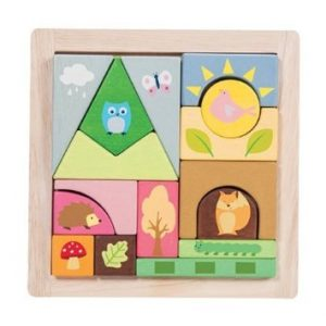PL002 Woodland Puzzle Blocks by Le Toy Van 001