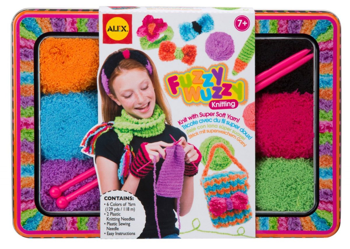 Alex Brands Fuzzy Wuzzy Knitting Kit