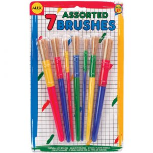 7 Assorted Paint Brush Set by Alex