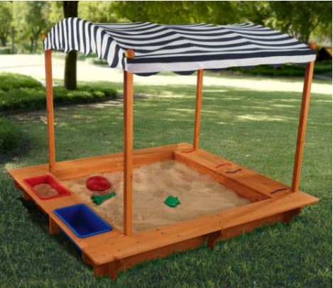 ZZKK-00165 KidKraft Outdoor Sandbox with Canopy 001