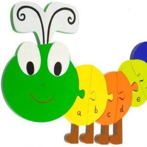 RY1655 Orange Tree Toys Caterpillar Alphabet Puzzle 001