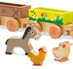 J08536  Janod Story Barnyard Baby Train 001