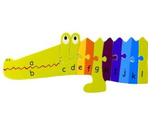 Orange Tree Toys Alphabet Crocodile Puzzle