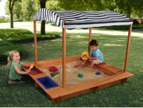 ZZKK-00165 KidKraft Outdoor Sandbox with Canopy 002