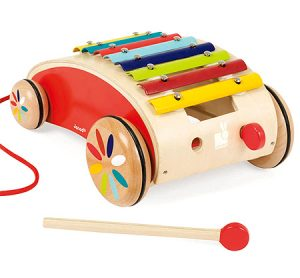 J05380 Janod Xylophone Pull Along Roller 001