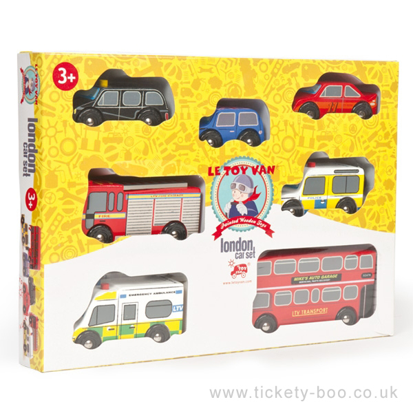 TV267 London Car Set by Le Toy Van 001