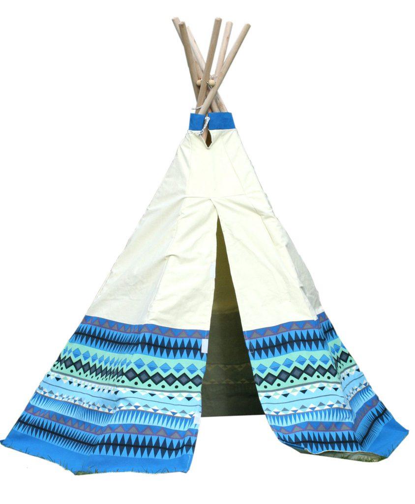 GG3042 Blue Aztec Wigwam Play Tent 005