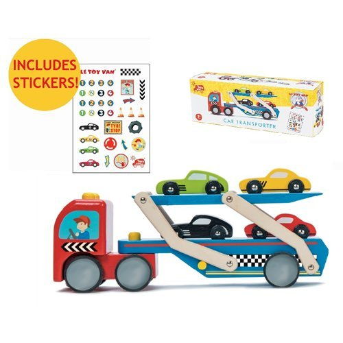 TV444 Le Toy Van Race Car Transporter Set  005