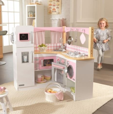 ZZKK53185 KidKraft Grand Gourmet Corner Kitchen 001