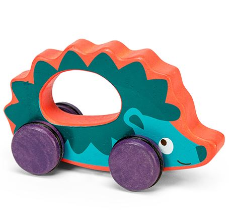 Wooden push along toy PL036 Le Toy Van Hedgehog on Wheels 001