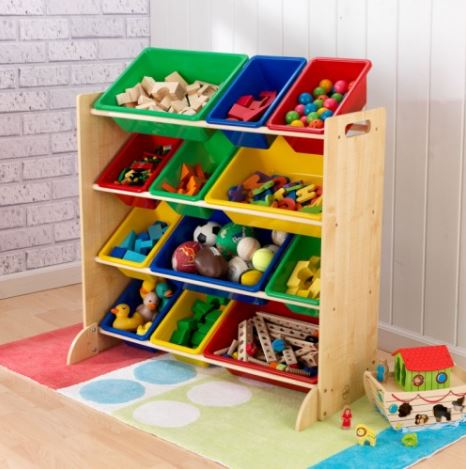 ZZKK16774 KidKraft Sort it & Store it Bin Unit 001