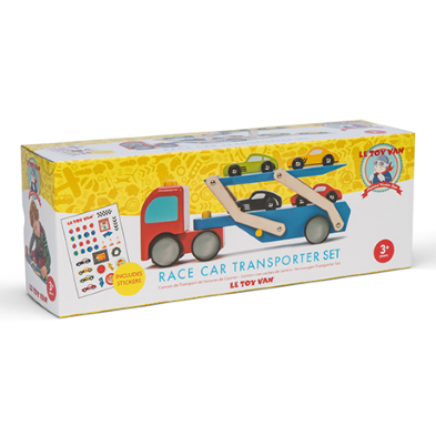 TV444 Le Toy Van Race Car Transporter Set  002