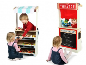 Tidlo Play Shop and Theatre plus Extras Bundle Set