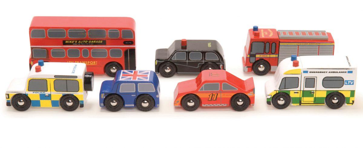 TV267 London Car Set by Le Toy Van 003