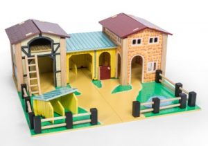 Le Toy Van The Farmyard Wooden Playset