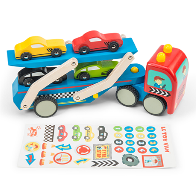 TV444 Le Toy Van Race Car Transporter Set  003