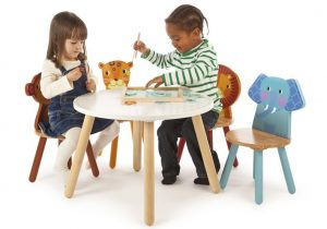 Tidlo Jungle Animals Table and Chairs Bundle Set