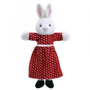 Dressed Mrs Rabbit Hand Puppet
