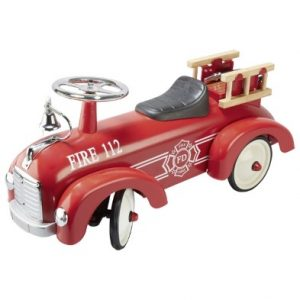 Goki Red Ride on Fire Truck