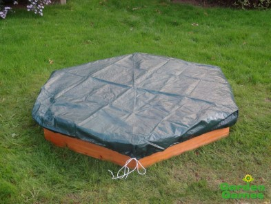 ZZGG6402 Wooden 3 Seater Hexagonal Sandpit 003