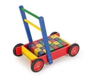 Wooden Baby Walker with Alphabet Blocks from Tidlo