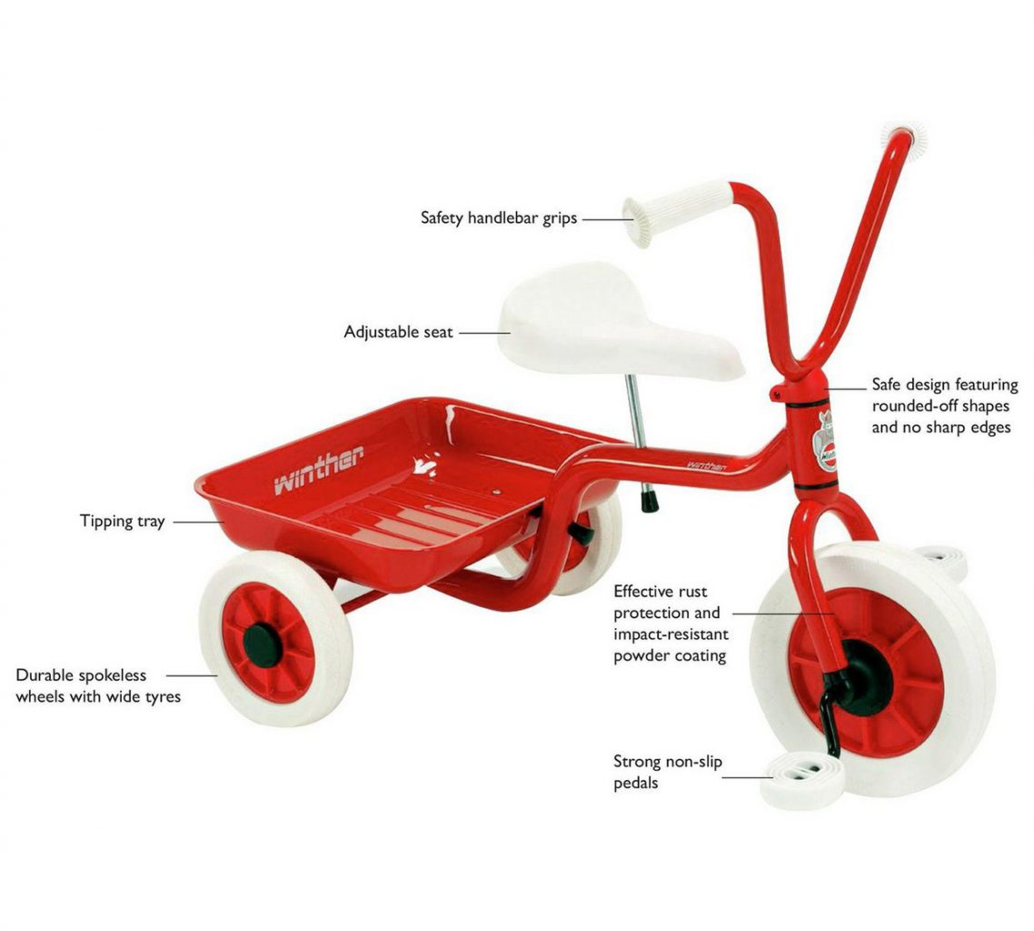 ZZ40500 Classic Red Tricycle  001