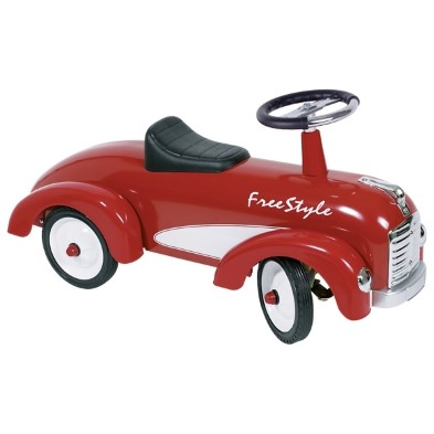 Goki Red Freestyle Metal rideon Car