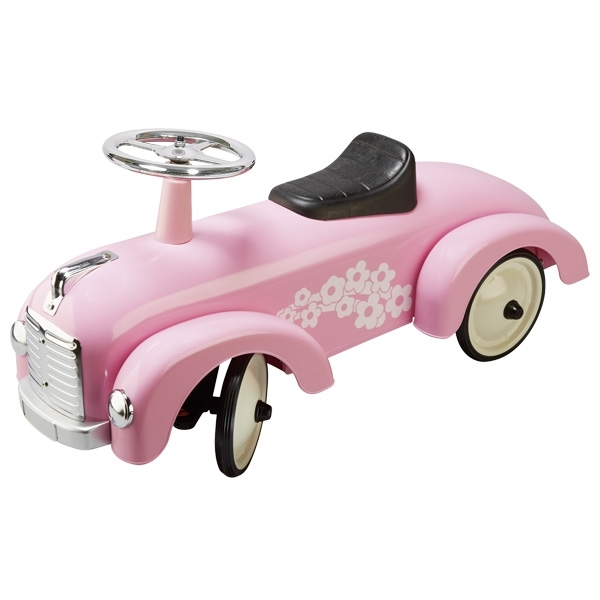 14161 Goki Pink classic Metal Rideon Car