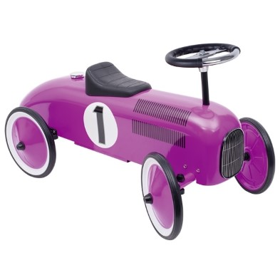 goki purple rideon car classic metal rideon