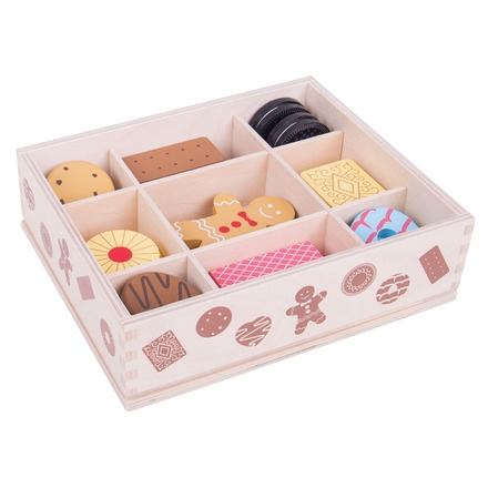 Wooden Box of Biscuits