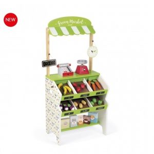 Janod Green Market Grocery Shop Play Set