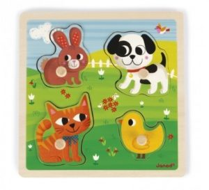 Janod Tactile 'My First Animals Puzzle 1