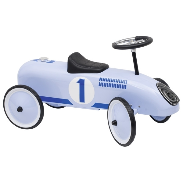 14166 Blue Classic Metal Ride on Car