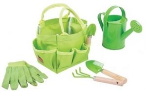 Bigjigs children's small tote gardening bag with tools