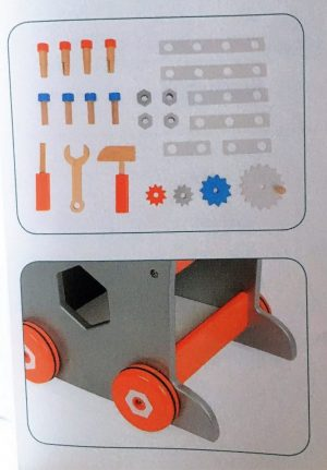 Janod Brico Kids DIY Magnetic Trolley