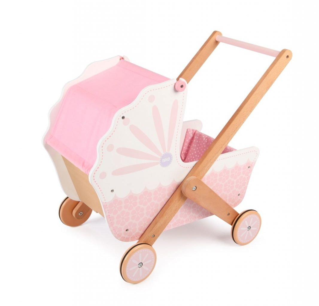 T-0213 Tidlo 3 in 1 Wooden Doll's Pram 004