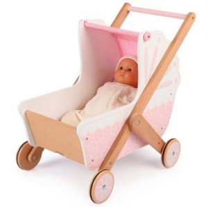 Tidlo 3 in 1 Wooden Doll's Pram