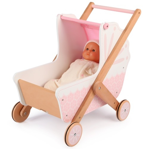 T-0213 Tidlo 3 in 1 Wooden Doll's Pram 002