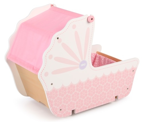 T-0213 Tidlo 3 in 1 Wooden Doll's Pram 001