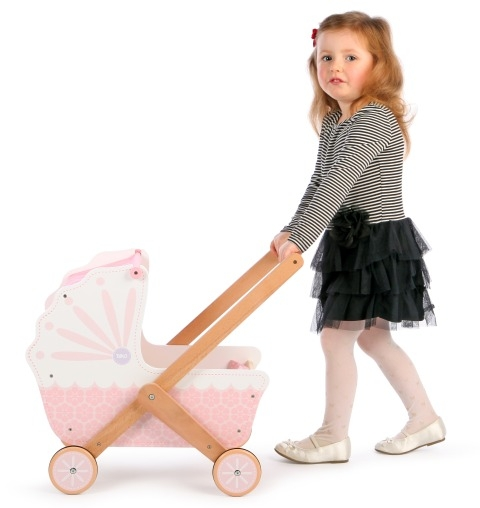 T-0213 Tidlo 3 in 1 Wooden Doll's Pram 003