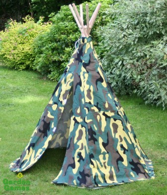 camouflage wigwam tepee by garden games